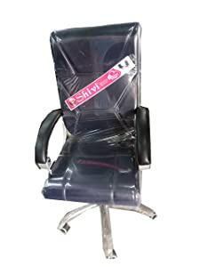 Supreme High Back Support Revolving Chairs with Wheels (Black Colour)