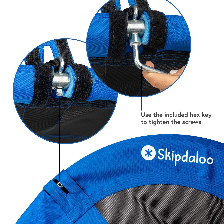 Skipdaloo Saucer Tree Swing for Outside - 40'' Hanging Round Swing for Kids, Easy Install, Steel Frame. by Skipdaloo (Image #9)