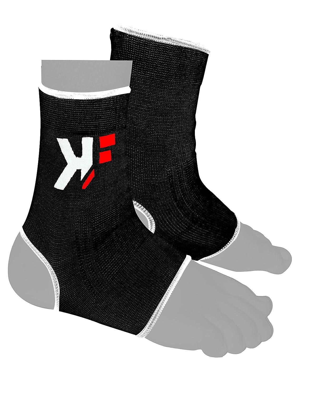 KIK FIT elástico Par Negro tobillo del pie de apoyo Boxeo, MMA, Artes Marciales, UFC, Kick Boxing KIKFIT