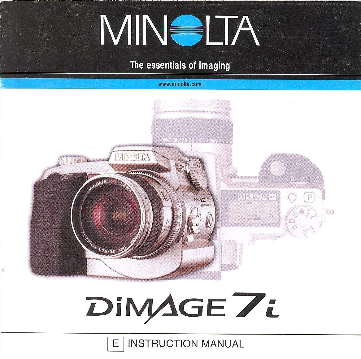 minolta dimage 7i original instruction manual amazon com books rh amazon com Minolta SRT 101 Minolta Raw