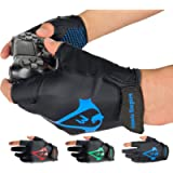 Americ Empire Pro Fingerless Gaming Gloves for Sweaty Hands 【As Seen on TV】 Gamer Gloves PS4, Xbox One, EPG Anti Sweat…
