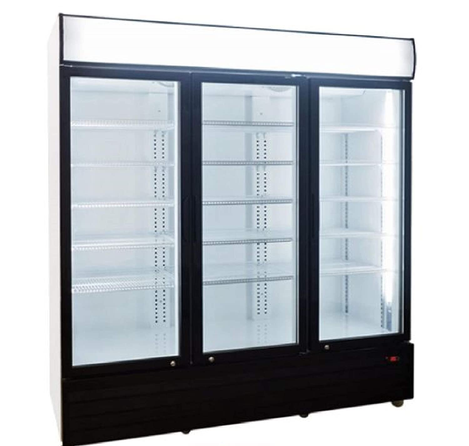"""68"""" Beverage Cooler and Refrigerator, NSF Commercial Fridge with 3 Glass Door, Perfect for Soda Beer Milk Water or Wine, 1840-Can Capacity"""