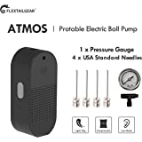FLEXTAILGEAR Atmos Portable Electric Ball Pump Rechargeable Mini Air Pump with 4 Needles - Fast Inflate for Basketball, Football, Soccer Ball, Volley Ball, Rugby Ball,etc.