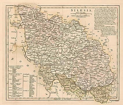 Southern Poland Map.Amazon Com Map Poster Silesia Southern Poland 24 X20 5