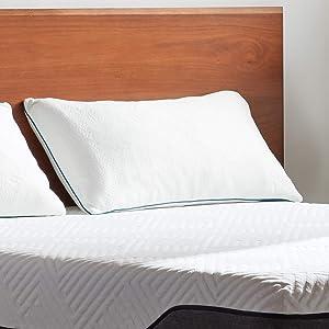 LUCID Premium Shredded Memory Foam Pillow-Hypoallergenic-Adjustable Loft-2 Pack-Queen