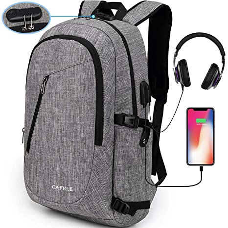 13db0bd6f3 Amazon.com  Cafele Laptop Backpack