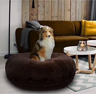 product image for Bessie and Barnie Signature Grizzly Bear Luxury Shag Extra Plush Faux Fur Bagel Pet / Dog Bed (Multiple Sizes)