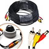 Safekom CCTV Security DVR Camera System Phono RCA AV Audio Video DC Power Supply Extension Cable Lead Cord Plug 5m 10m 20m 30M Meter Metre - 1 Year Warranty Free & Fast UK Same Day Dispatch UK Seller (20m)