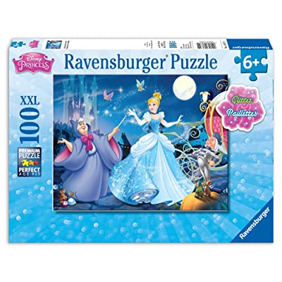 Ravensburger Disney Princess Adorable Cinderella 100 Piece Glitter Jigsaw Puzzle for Kids – Every Piece is Unique, Pieces Fit Together Perfectly: Toys & Games