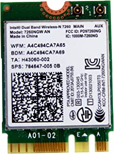 HP Intel Wireless-N 7260 an BT NGFF MOW M.2 784647-001 7260.NGWANG.R 7260NGW an
