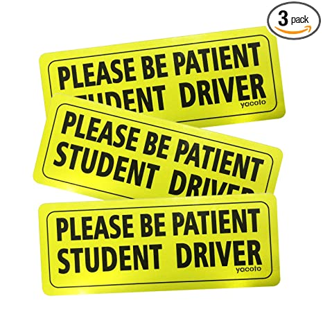 photo relating to Student Driver Sign Printable referred to as Yacoto 3 Personal computers Scholar Driver Magnet Stability Indication Automobile Bumper Magnet - Vehicle Reflective Motor vehicle Signal Sticker Bumper for Clean Driver