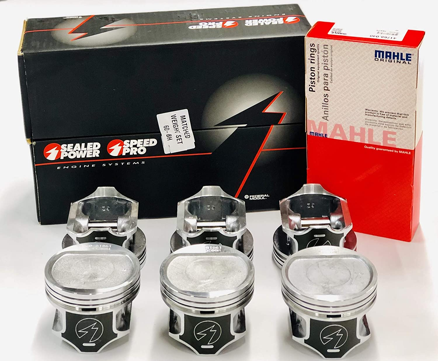 Sealed Power Pistons /& Rings COMBO Set of +.040 or 3.915 Bore 6 compatible with 1996-2006 Jeep Cherokee Wagoneer 4.0 4.0L 242.