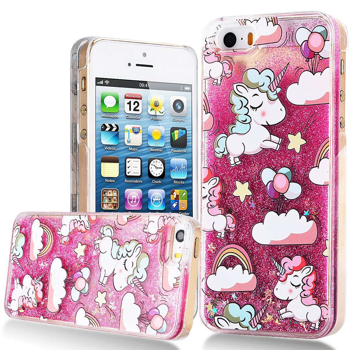 coque iphone 6 paillette liquide licorne