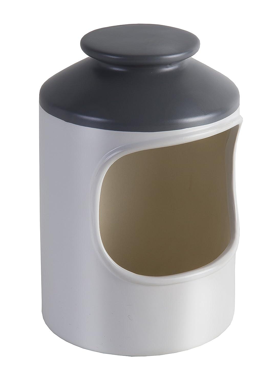 Jamie Oliver Ceramic Salt Pig, White & Grey, 10.9 x 10.9 x 16.3 cm DKB Household UK Ltd JB1125