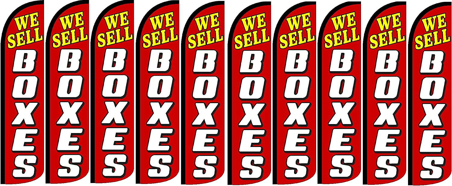 Pack of 10 Hardware Not Included We Sell Boxes King Windless Flag