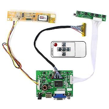 Tarjeta de Controlador LCD de Entrada de Audio HDMI VGA 2AV Para 15.4