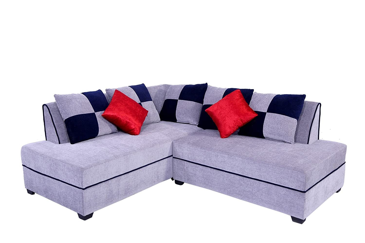 Muebles Casa Crown CASA010 Five Seater Sofa (Blue And Grey)
