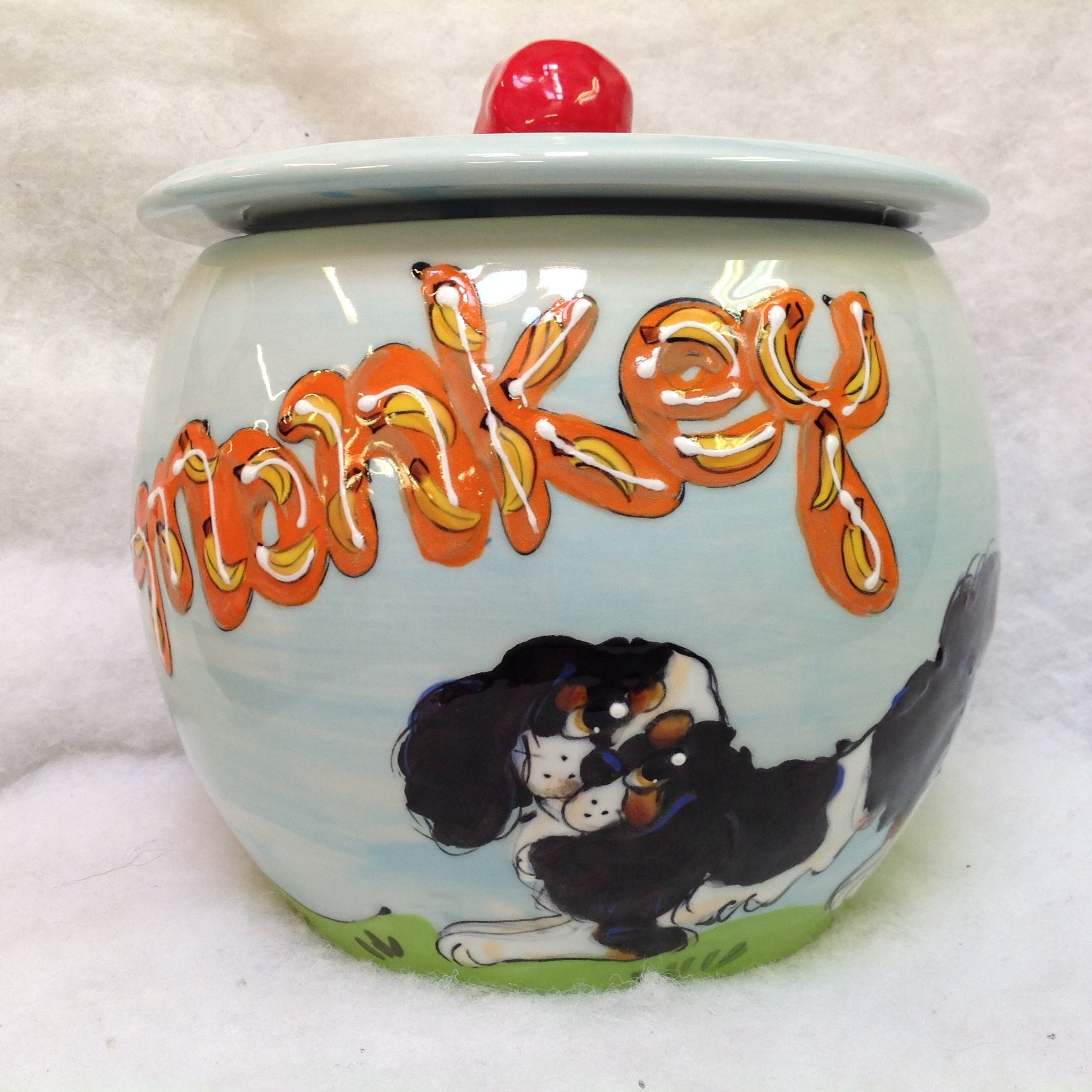 Treat Jar, Personalized at no Charge. Signed by Artist, Debby Carman.