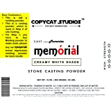 Stone Casting Powder Creamy White Shade 3D High Strength 908 Grams Create Memories by COPY CAT STUDIOS