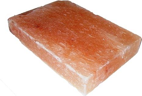 Natural Himalayan Salt Plate Slab Block Pink Rectangle 12x8x2 Inch Grocery Gourmet Food