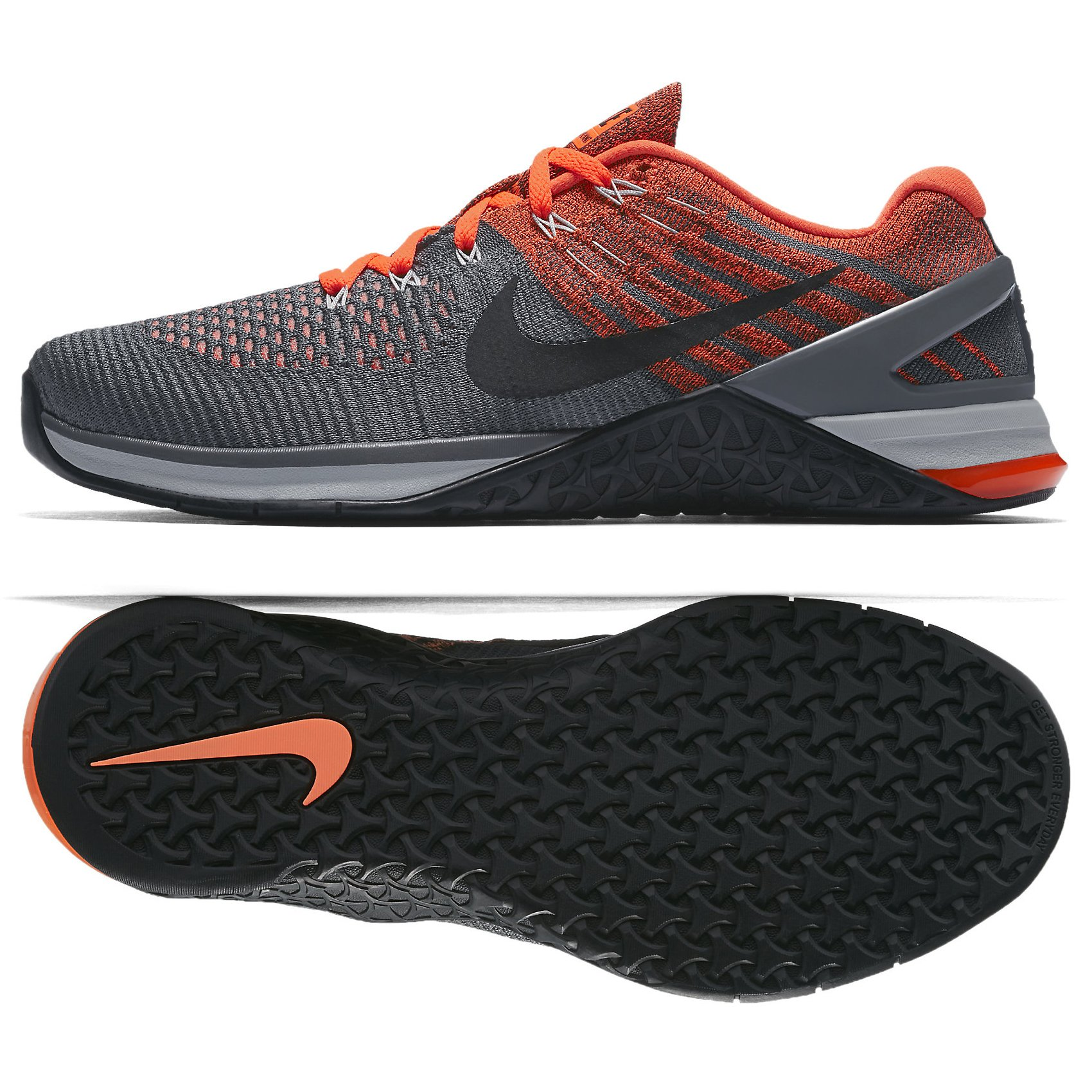 huge selection of e834c 7d91b Galleon - NIKE Metcon DSX Flyknit 852930-010 Dark Grey Crimson Black Men s  Training Shoes (11.5)