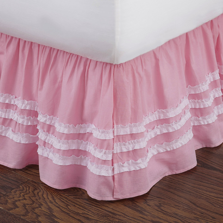 Pink Bed Skirt Queen.Levtex Home Ruched Bed Skirt Queen Pink