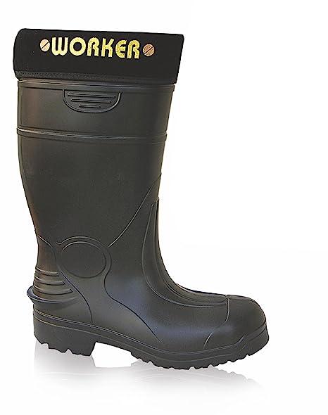 Sizes 7-12 JCB HYDROMASTER Safety Wellington Work Boots Black Wellies