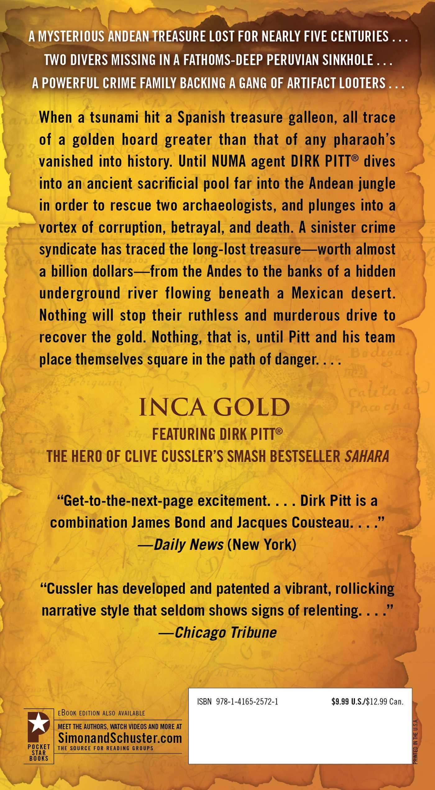 Amazon Com Inca Gold Dirk Pitt Adventures 9781416525721 Clive Cussler Books