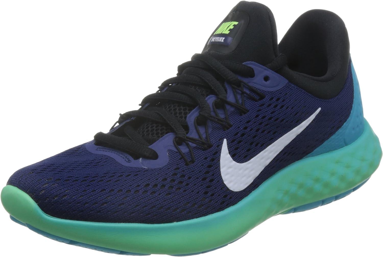 Nike Men Lunar Skyelux Running Shoe, Blue