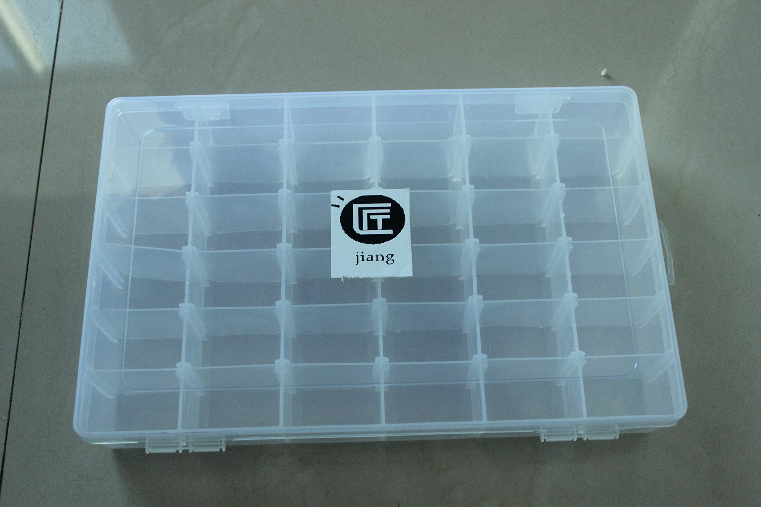 36 Grids Clear Plastic Adjustable Organizer Container Transparent Storage Case Box