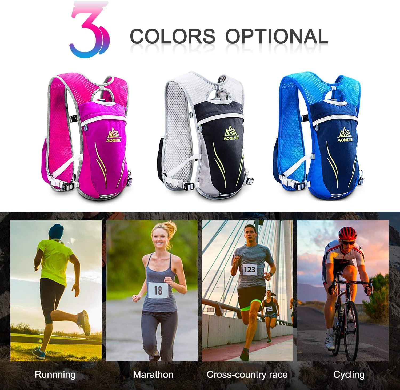 HINATAA Hydration Pack Backpack,5.5L Running Hydration Vest Marathon Running Vest for Women and Men Lightweight Trail Running Backpack