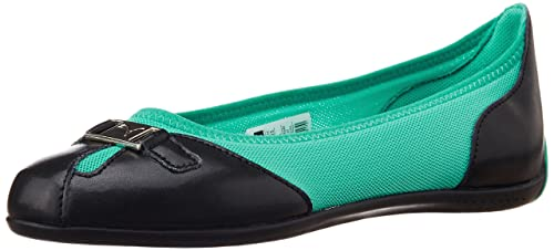 09e769a4c61 Puma Women s Saba Ballet DP Black and Atlantis Rubber Ballet Flats - 5  UK India