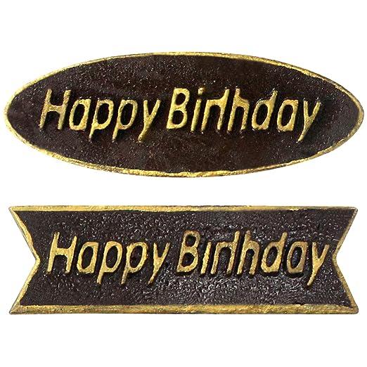 musykrafties feliz cumpleaños placa de chocolate PS plástico ...