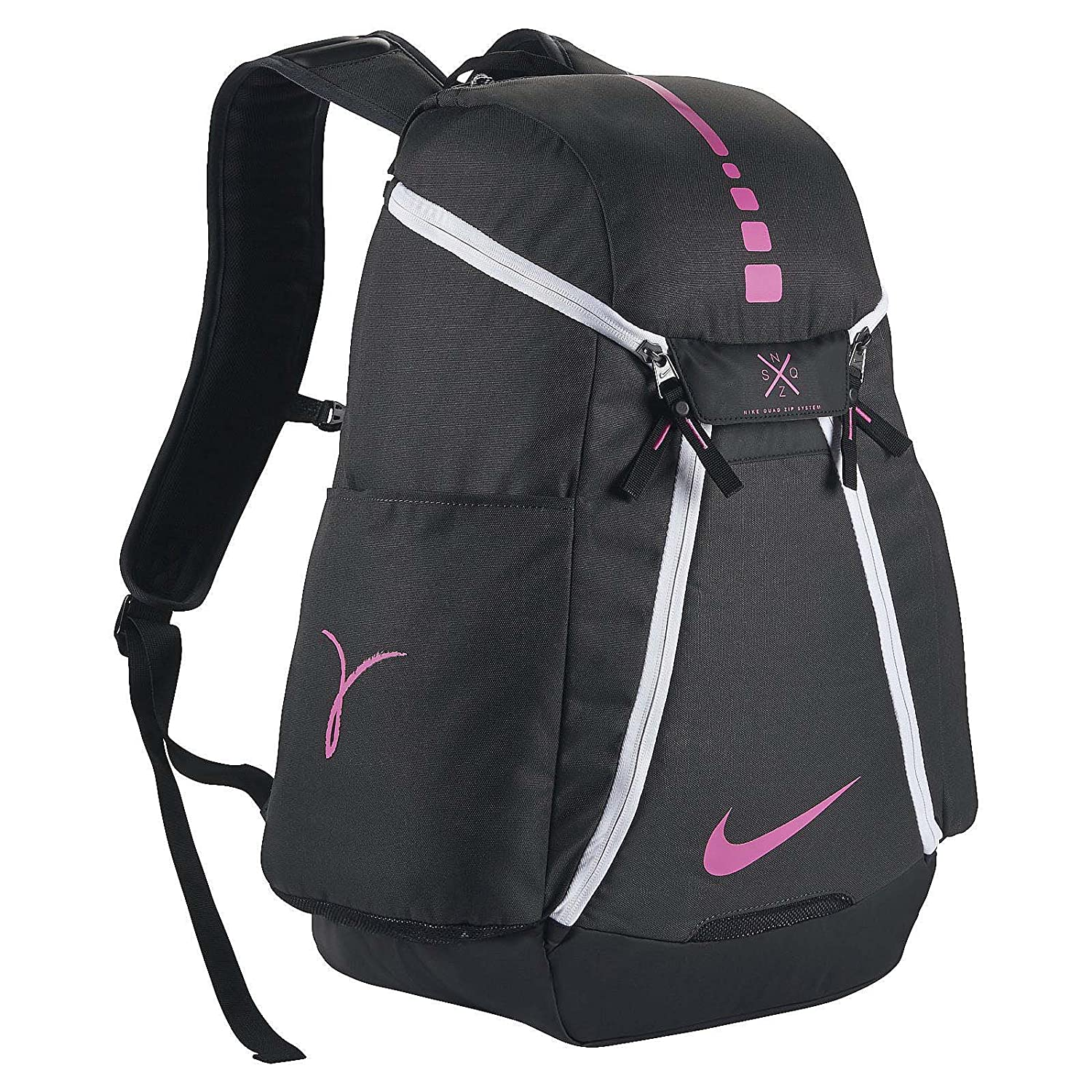 35c6dc1b40a7 Amazon.com  Nike Hoops Elite Max Air Team 2.0 Basketball Backpack  Anthracite Black Pinkfire II Size One Size  Sports   Outdoors
