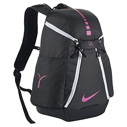 2ee9d62f00 Amazon.com  Nike Hoops Elite Max Air Team 2.0 Basketball Backpack  Anthracite Black Pinkfire II Size One Size  Sports   Outdoors