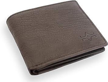 Global Wallet Cartera Hombre Piel con Monedero,Cartera Minimalista Hombre, Billetera Hombre Slim Marron: Amazon.es: Equipaje