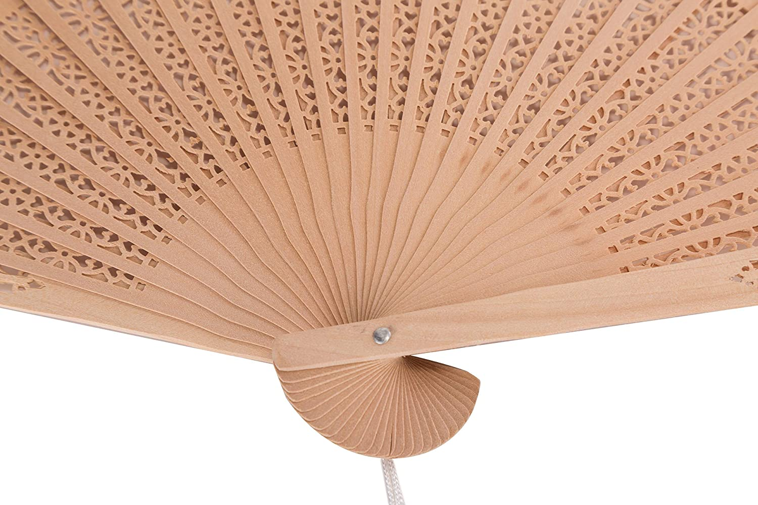 Sepwedd Set of 10pcs Sandalwood Fan Favors with Gift Bags and Tassels Wooden Folding Fan 10Pcs