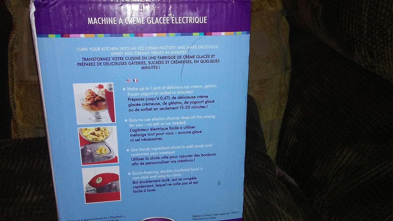 Nostalgia Electrics 1-Pint Electric Ice Cream Maker: Amazon.ca: Home ...