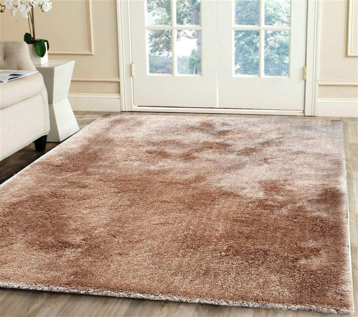Buy Imra Carpet Soft Modern Shag Area Rugs Fluffy Living Room Carpet Bedroom Home Decorate Floor Kids Playing Mat 7 Feet By 10 Feet Black Online At Low Prices In India Amazon In