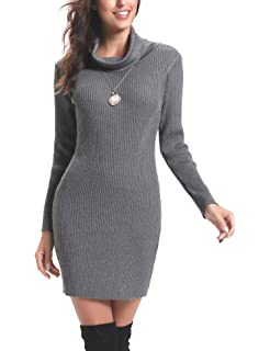 d919430a50156 Glamour Empire. Femme Mini Robe moulante en maille. Robe pull à col ...