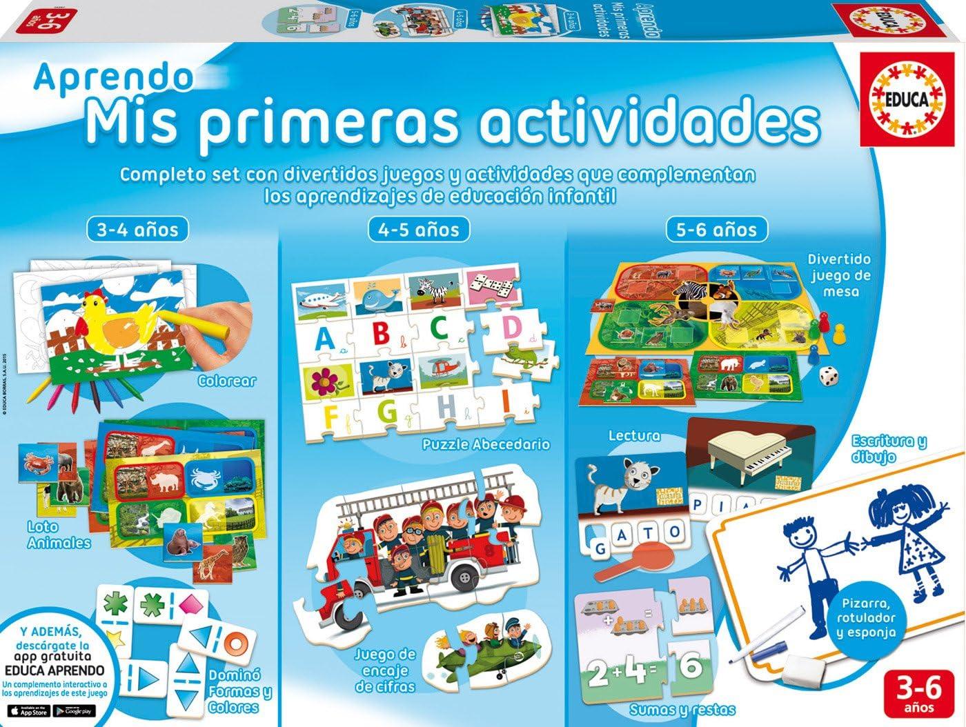 Educa Borrás- Juego, Aprendo Mis primeras Actividades, 37.1 x 27.2 x 8.6 (16397): Amazon.es: Juguetes y juegos