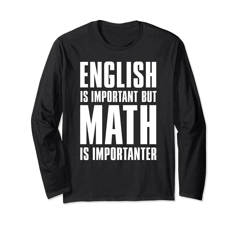 'English Is Important But Math Is Importanter' Teacher Shirt-Samdetee
