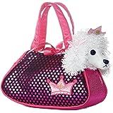 Fancy Pals - Perro Caniche de peluche, 20 cm, color blanco y rosa (