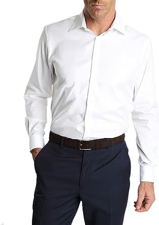 Caramelo, Camisa Regular Cuello Ingles, Hombre · Blanco ...