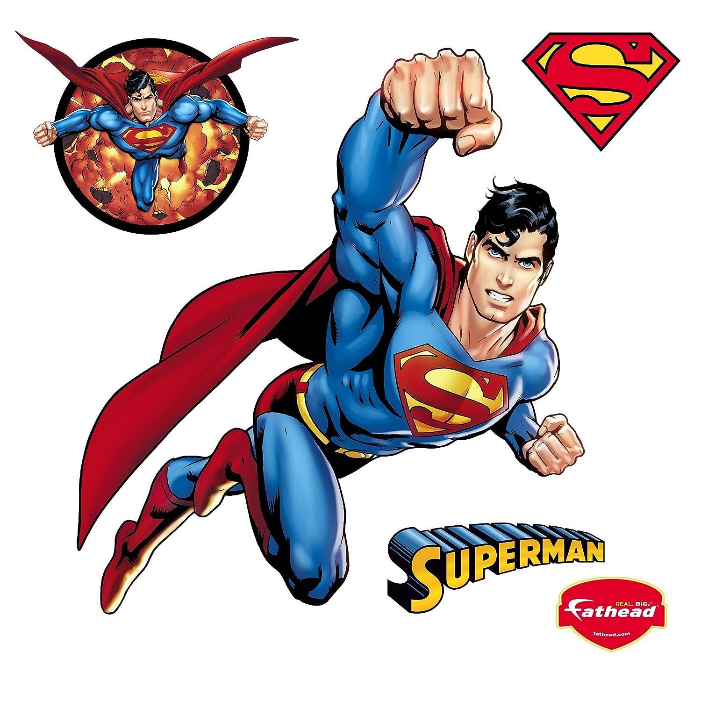 Amazon fathead superman wall decal home kitchen amipublicfo Choice Image