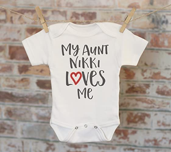 Amazon my aunt loves me personalized onesie auntie gift gift my aunt loves me personalized onesie auntie gift gift for niece nephew custom negle Image collections