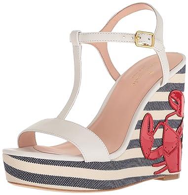73c54f3fd7a4 Amazon.com  Kate Spade New York Women s Deacon Wedge Sandal  Shoes