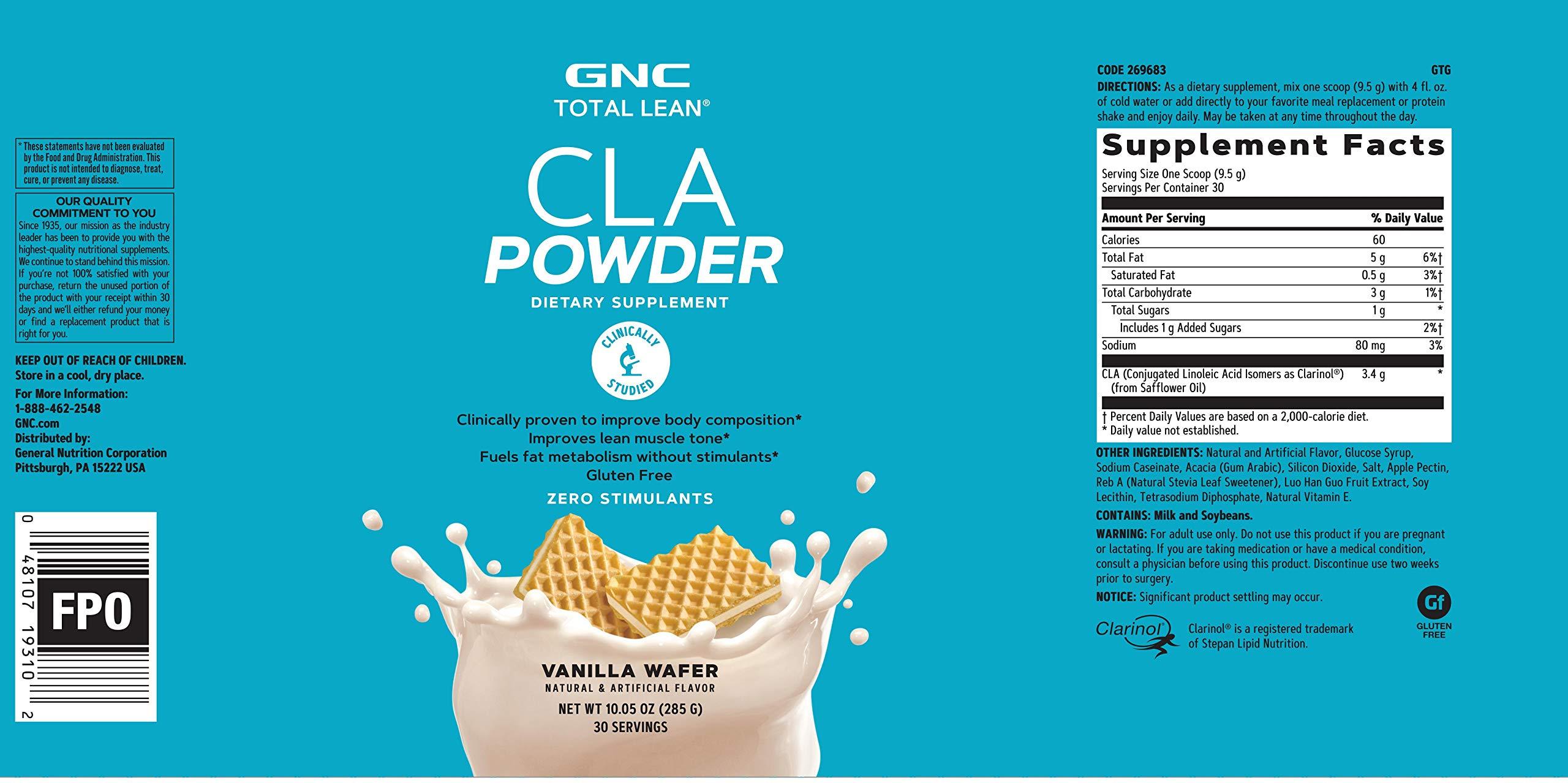 GNC Total Lean CLA Powder - Vanilla Wafer by GNC (Image #2)