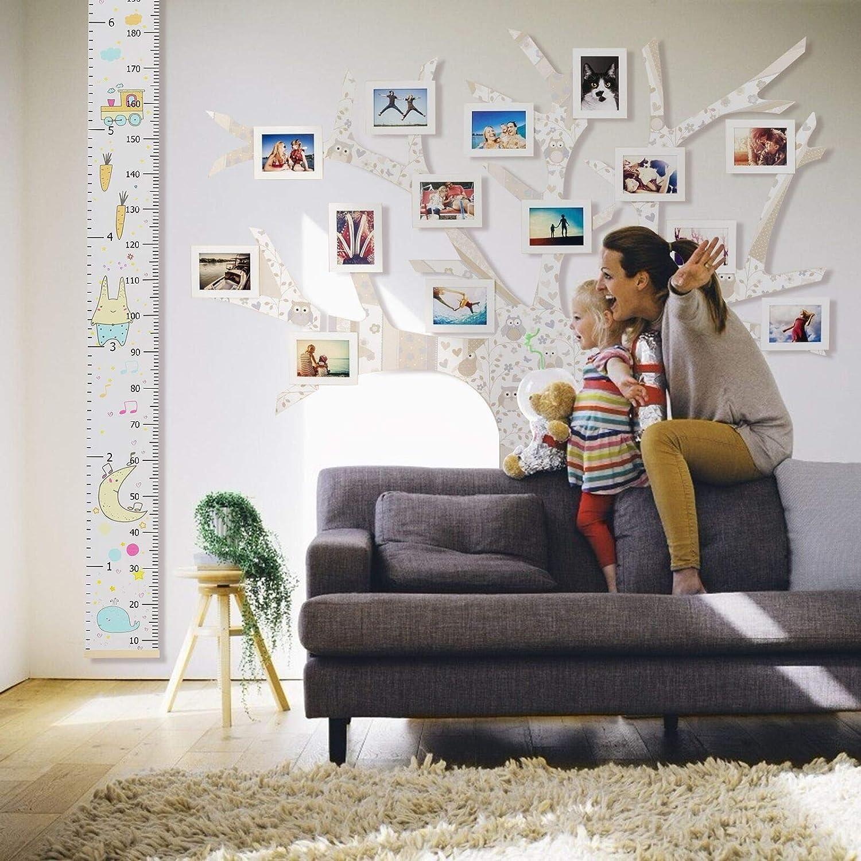 Wachstumstabelle f/ür Kinder Holz Wandbehang Kid H/öhe Messlineal Room Home Decoration B