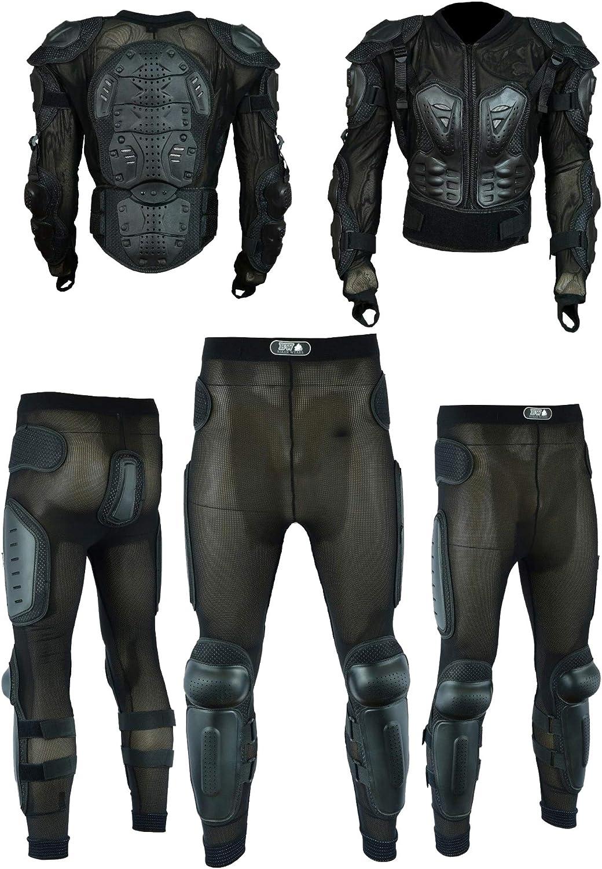 con protezione per la colonna vertebrale nera Pro First MB Giacca da moto da uomo